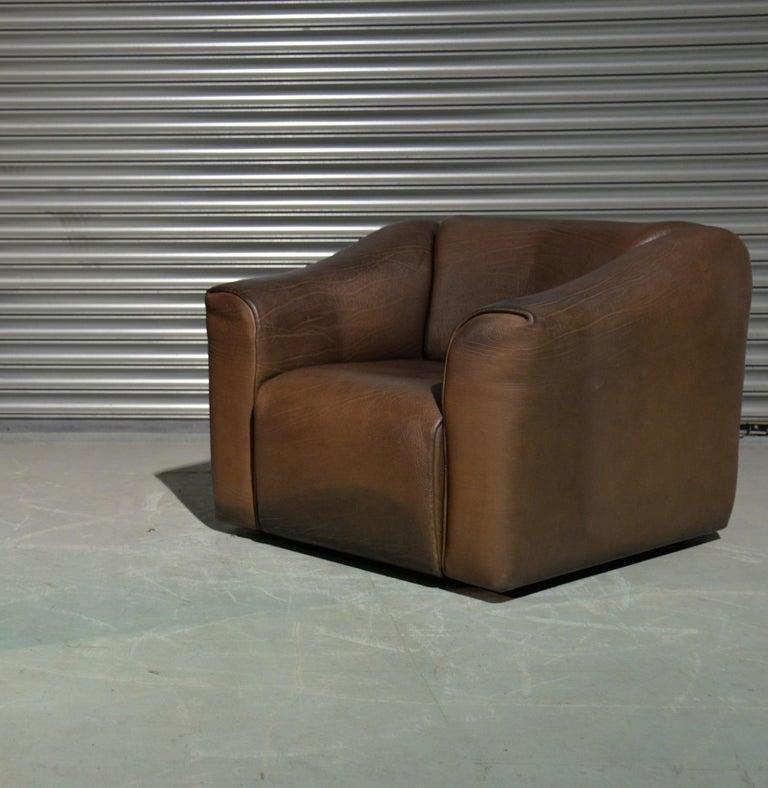 Vintage De Sede DS 47 Leather Suite, Switzerland, 1970s For Sale 11