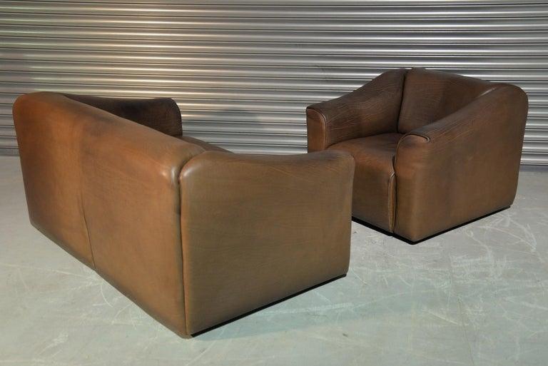 Late 20th Century Vintage De Sede DS 47 Leather Suite, Switzerland, 1970s For Sale