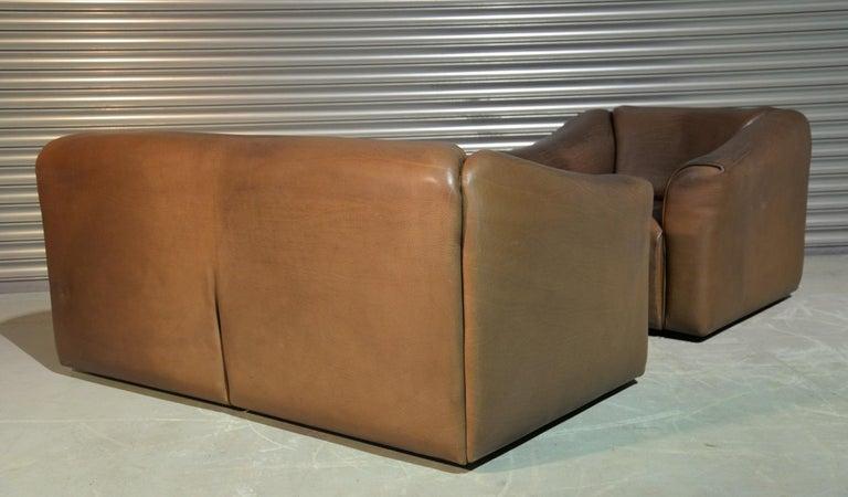 Vintage De Sede DS 47 Leather Suite, Switzerland, 1970s For Sale 1