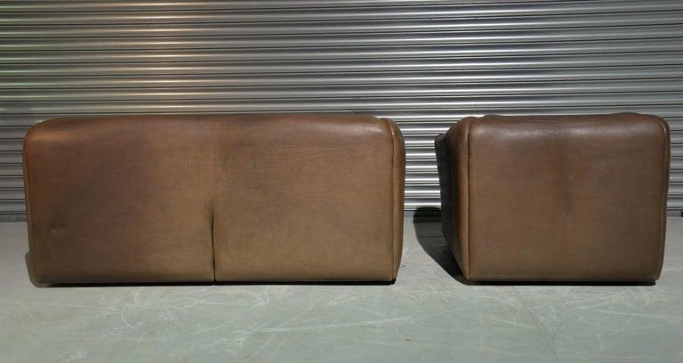 Vintage De Sede DS 47 Leather Suite, Switzerland, 1970s For Sale 2