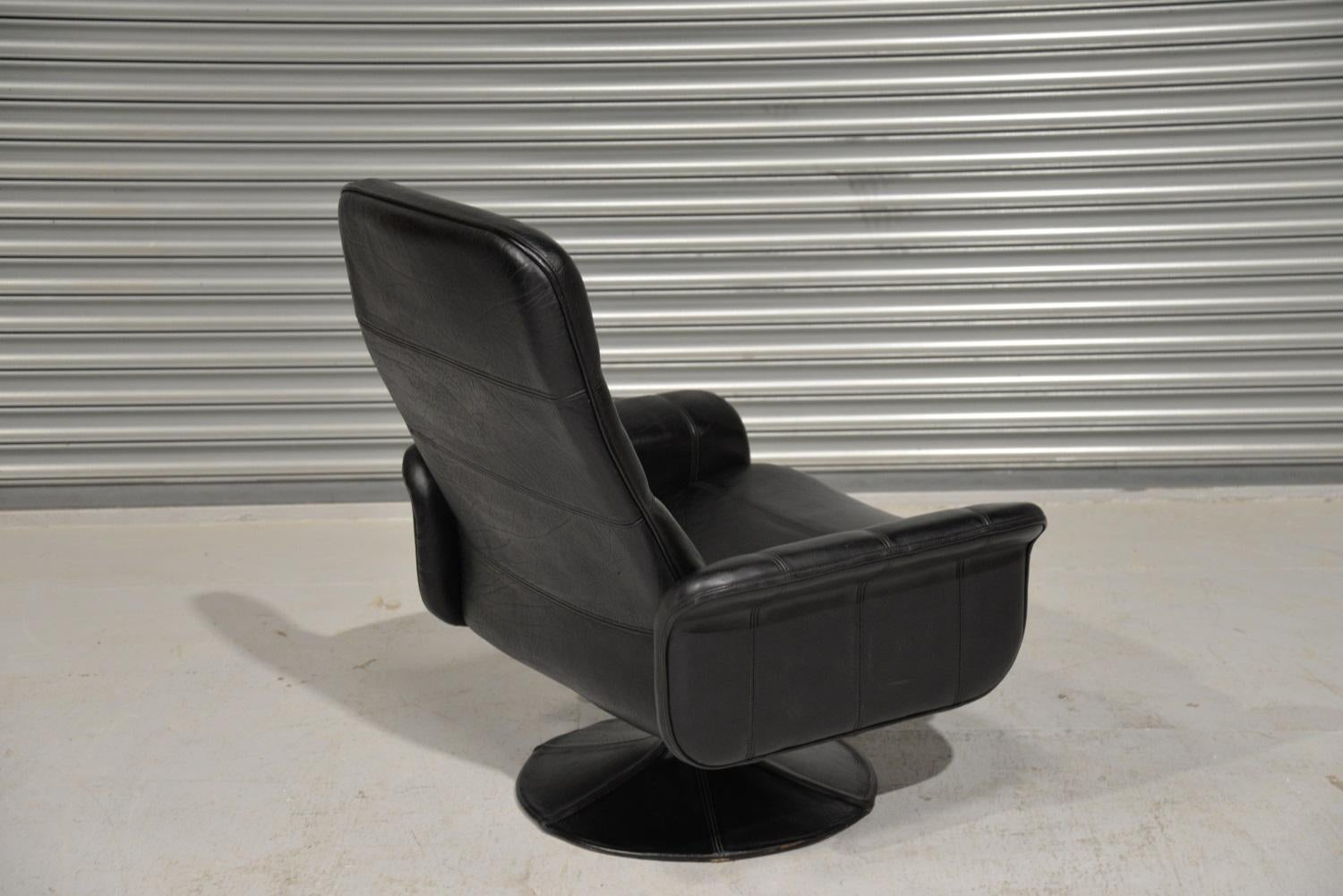 Vintage De Sede DS 50 Leather Swivel Armchair, Switzerland, 1970s