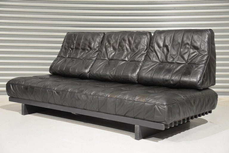 Swiss Vintage De Sede DS 80 Patchwork Leather Daybed, Switzerland, 1960s For Sale