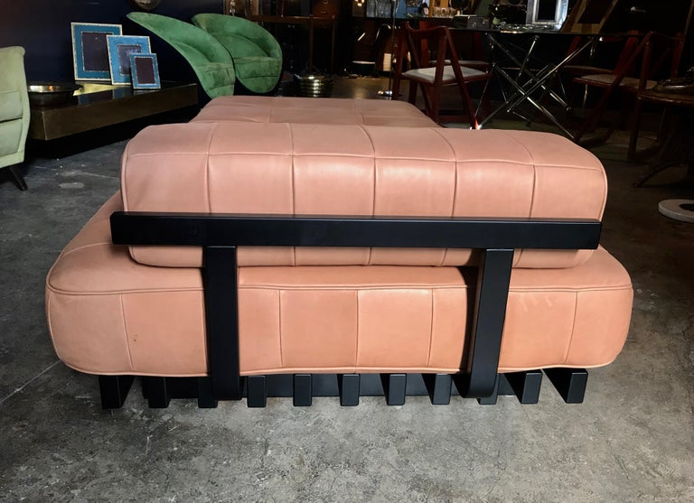 Vintage De Sede DS 80 Patchwork Leather Daybed, Switzerland, 1960s In Good Condition For Sale In Los Angeles, CA