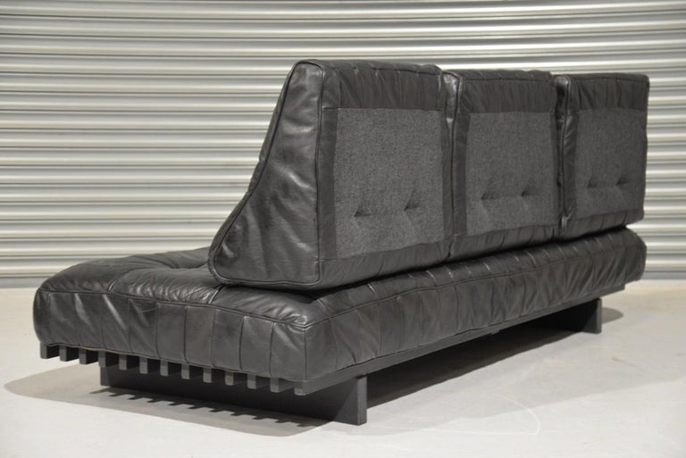 Mid-20th Century Vintage De Sede DS 80 Patchwork Leather Daybed, Switzerland, 1960s For Sale