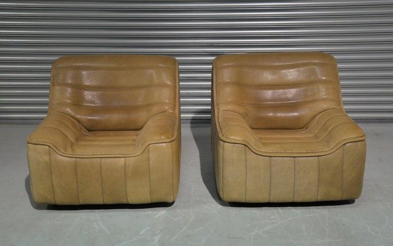 Swiss Vintage De Sede DS 84 Neck Leather Armchairs, Switzerland, 1970s For Sale