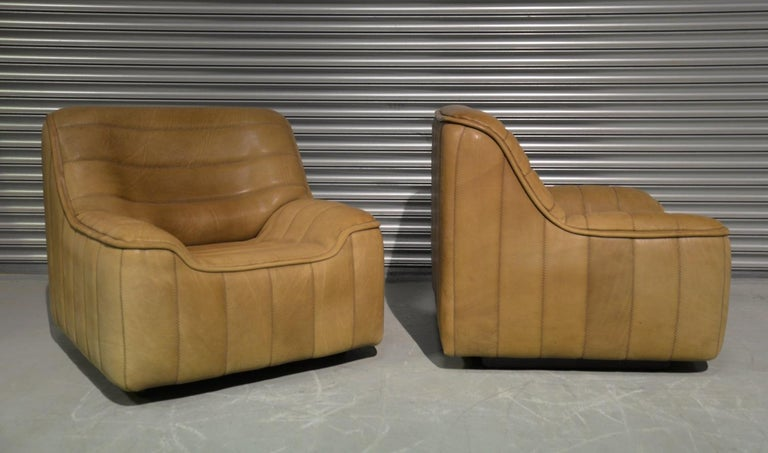 Vintage De Sede DS 84 Neck Leather Armchairs, Switzerland, 1970s In Good Condition For Sale In Fen Drayton, Cambridgeshire