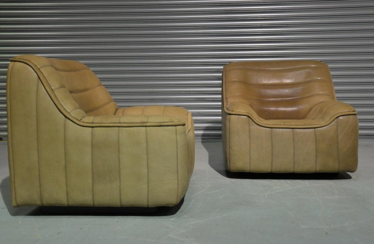 Late 20th Century Vintage De Sede DS 84 Neck Leather Armchairs, Switzerland, 1970s For Sale