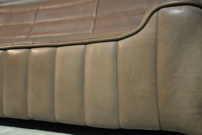 Vintage De Sede DS 84 Leather Sofa, Switzerland, 1970s For Sale 8