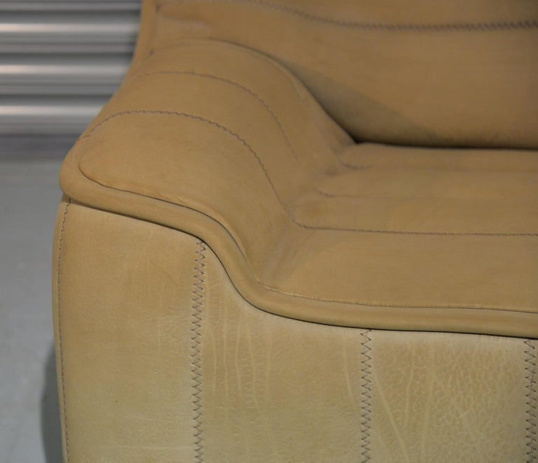 Vintage De Sede DS 84 Leather Sofa, Switzerland 1970s For Sale 8