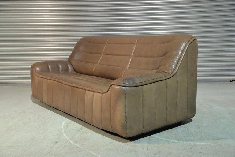 Mid-Century Modern Vintage De Sede DS 84 Leather Sofa, Switzerland, 1970s For Sale