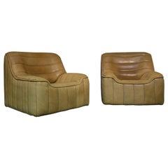 Vintage De Sede DS 84 Neck Leather Armchairs, Switzerland, 1970s