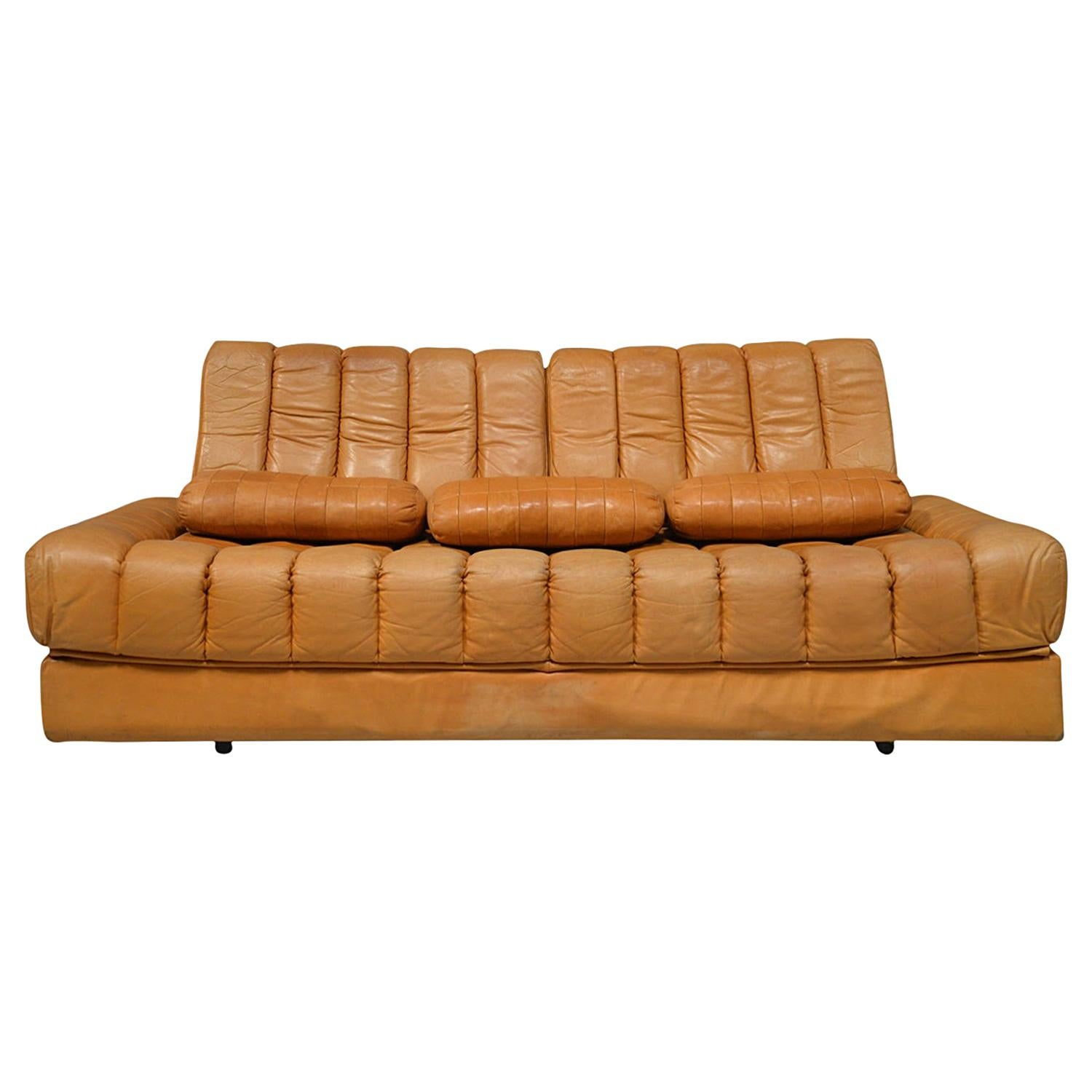 Vintage De Sede DS 85 Leather Daybed and Sofa / Loveseat, Switzerland, 1960s