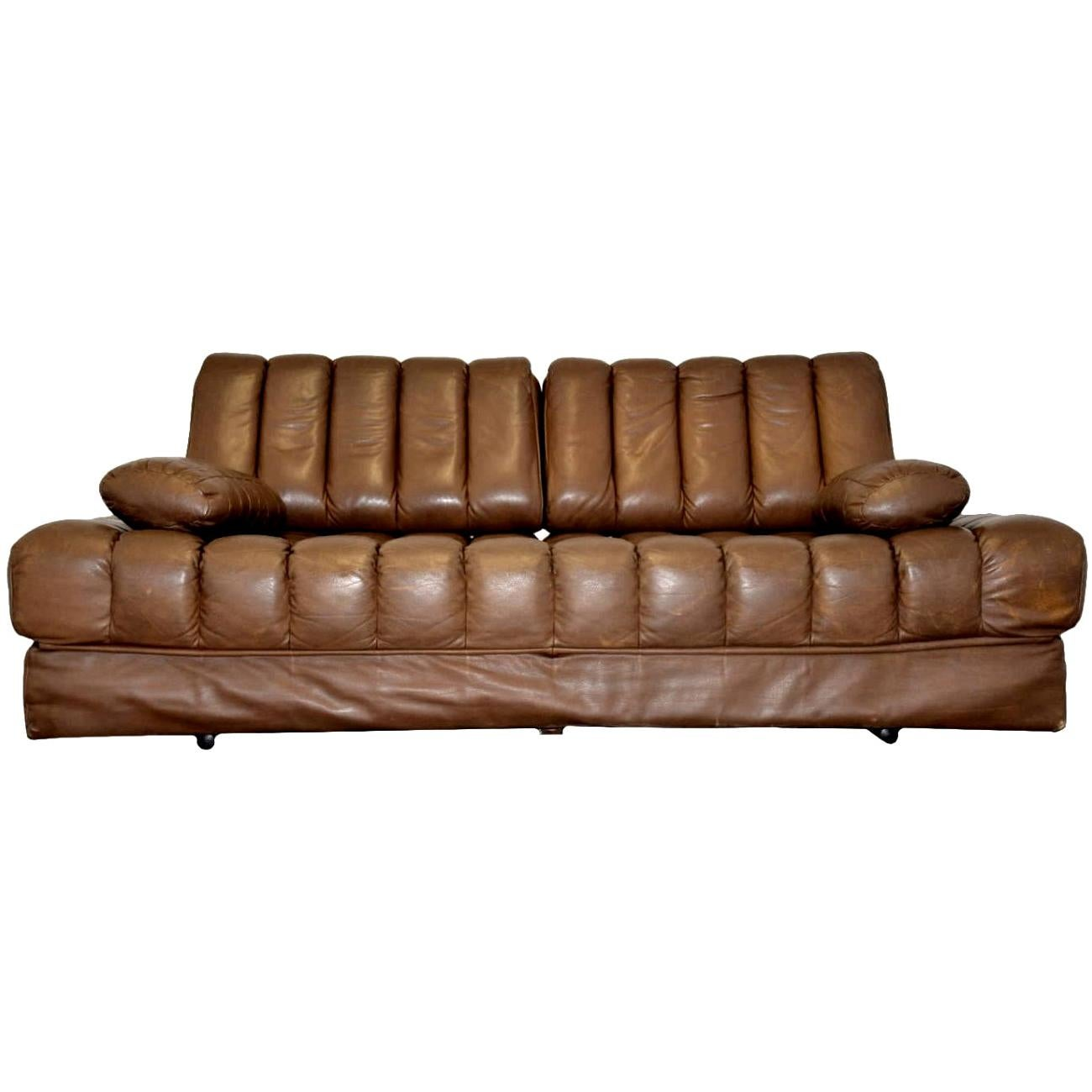 Vintage De Sede DS 85 Leather Sofa, Daybed and Loveseat, Switzerland, 1960s