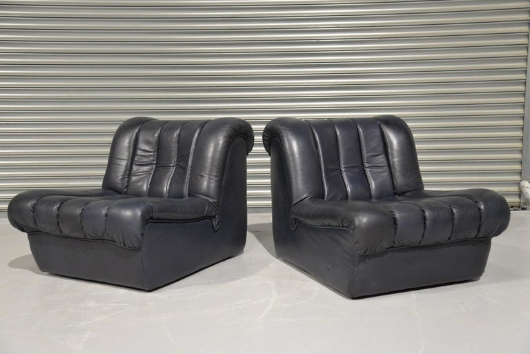 Vintage De Sede DS 85 Lounge Chairs, 1960s In Good Condition For Sale In Fen Drayton, Cambridgeshire