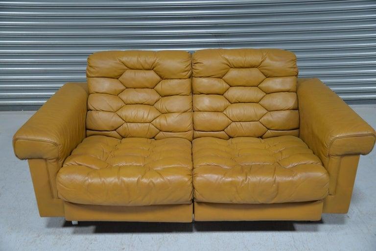 Vintage De Sede DS-P Reclining Sofa by Robert Haussmann, Switzerland, 1970s For Sale 6