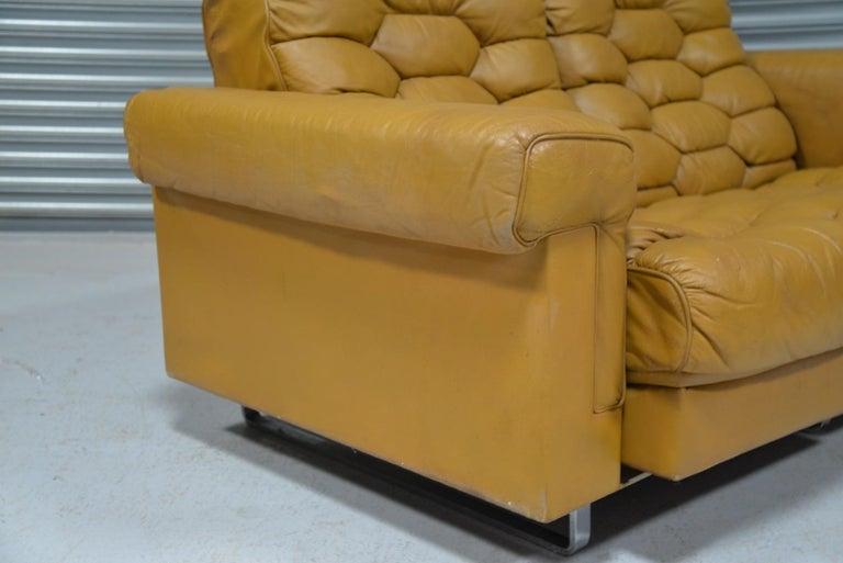 Vintage De Sede DS-P Reclining Sofa by Robert Haussmann, Switzerland, 1970s For Sale 9