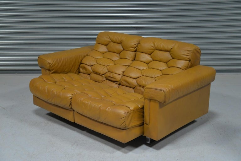Swiss Vintage De Sede DS-P Reclining Sofa by Robert Haussmann, Switzerland, 1970s For Sale