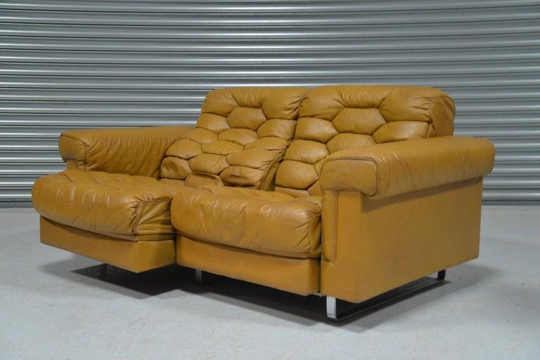 Late 20th Century Vintage De Sede DS-P Reclining Sofa by Robert Haussmann, Switzerland, 1970s For Sale