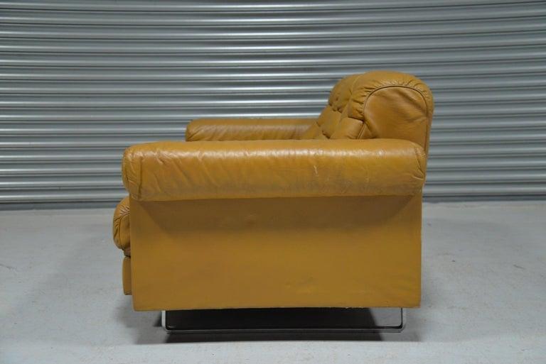 Leather Vintage De Sede DS-P Reclining Sofa by Robert Haussmann, Switzerland, 1970s For Sale
