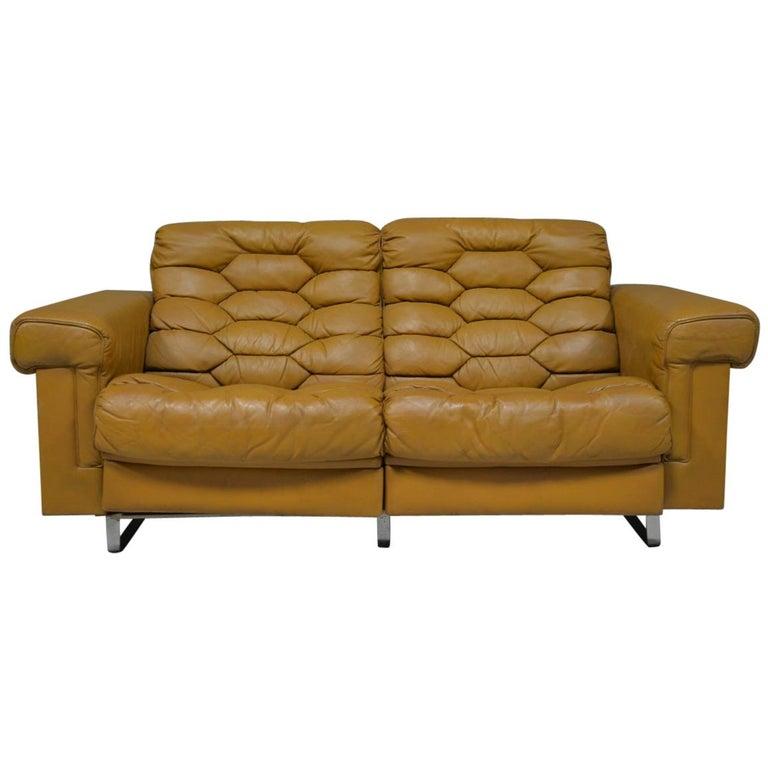 Vintage De Sede DS-P Reclining Sofa by Robert Haussmann, Switzerland, 1970s For Sale