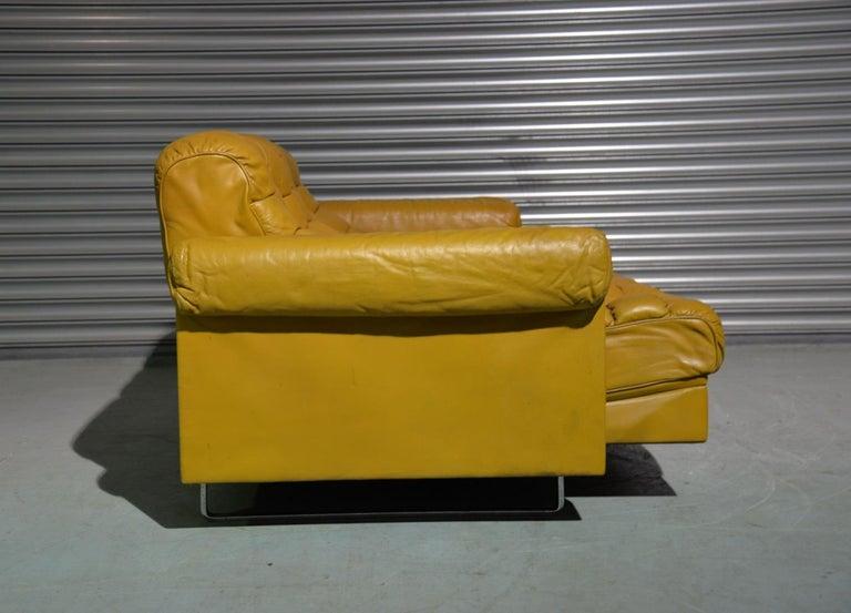 Vintage De Sede DS-P Sofa Set in Cognac Leather by Robert Haussmann, 1970s For Sale 3