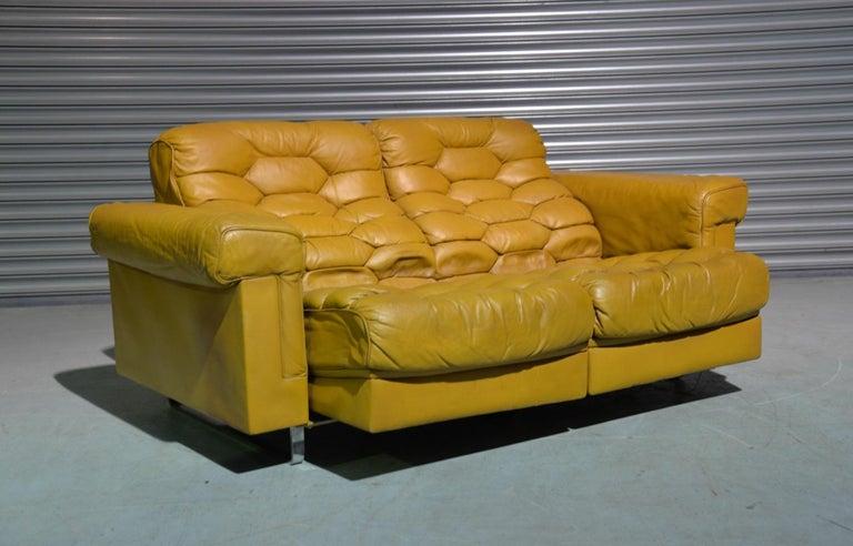 Vintage De Sede DS-P Sofa Set in Cognac Leather by Robert Haussmann, 1970s For Sale 5