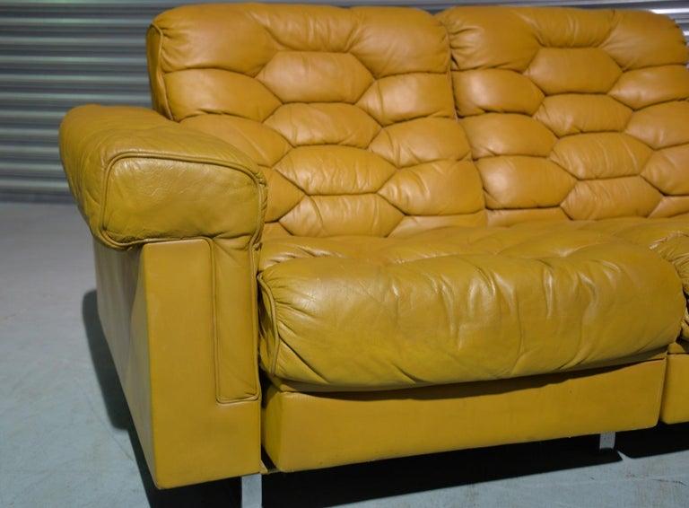 Vintage De Sede DS-P Sofa Set in Cognac Leather by Robert Haussmann, 1970s For Sale 6