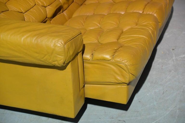 Vintage De Sede DS-P Sofa Set in Cognac Leather by Robert Haussmann, 1970s For Sale 8