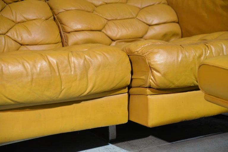 Vintage De Sede DS-P Sofa Set in Cognac Leather by Robert Haussmann, 1970s For Sale 9