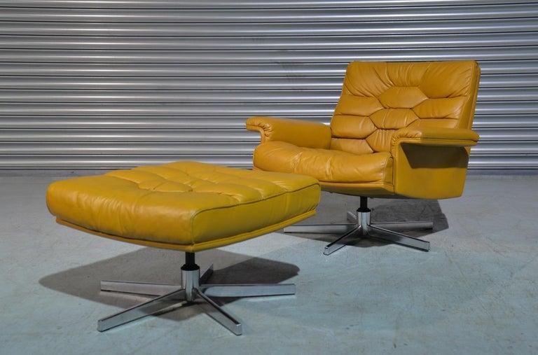 Vintage De Sede DS-P Sofa Set in Cognac Leather by Robert Haussmann, 1970s For Sale 10