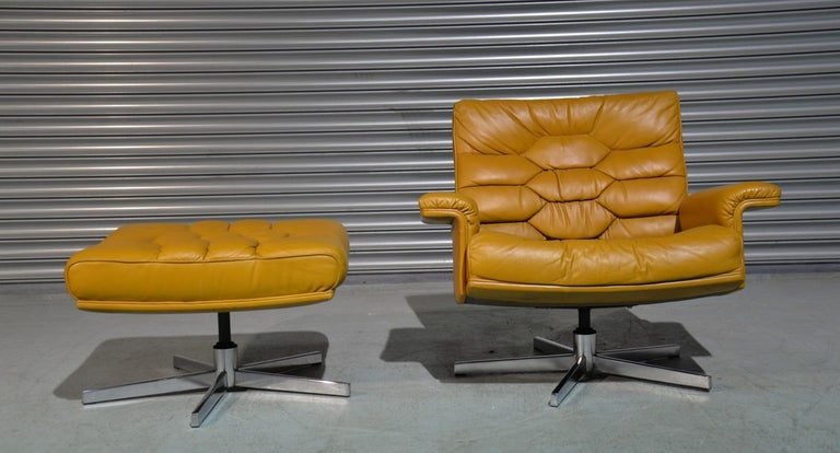 Vintage De Sede DS-P Sofa Set in Cognac Leather by Robert Haussmann, 1970s For Sale 12