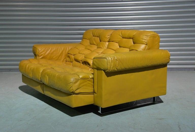 Late 20th Century Vintage De Sede DS-P Sofa Set in Cognac Leather by Robert Haussmann, 1970s For Sale