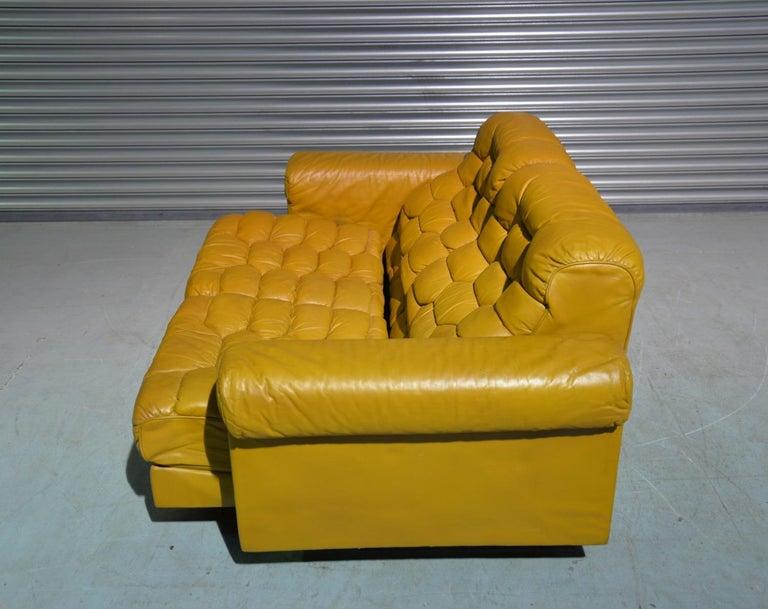Chrome Vintage De Sede DS-P Sofa Set in Cognac Leather by Robert Haussmann, 1970s For Sale