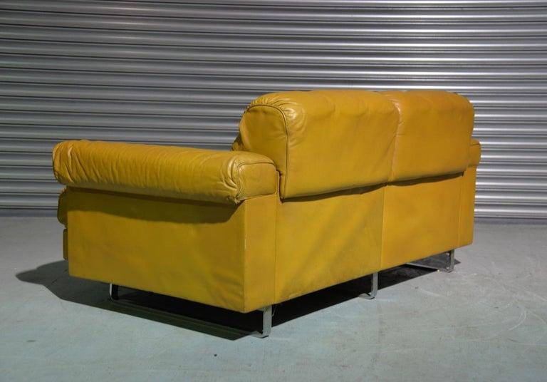 Vintage De Sede DS-P Sofa Set in Cognac Leather by Robert Haussmann, 1970s For Sale 1