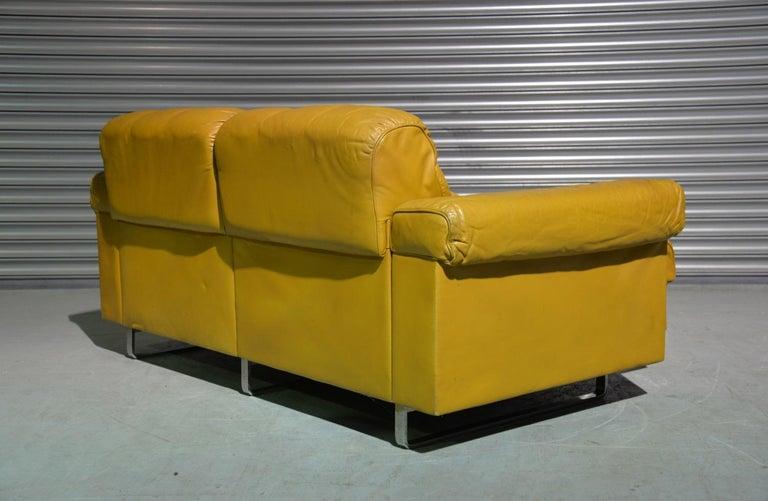 Vintage De Sede DS-P Sofa Set in Cognac Leather by Robert Haussmann, 1970s For Sale 2