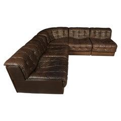 Vintage De Sede DS11 Sectional Patchwork Sofa, 1970s