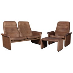 Vintage De Sede Exclusive, Sofa Set Sofa, Patinated Leather