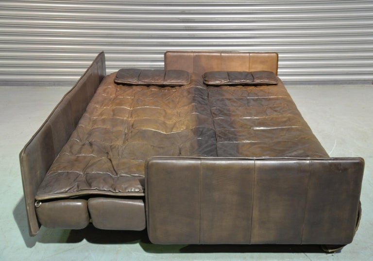 Vintage De Sede Patchwork Leather Sofa / Daybed, Switzerland, 1970s For Sale 5