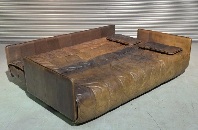 Vintage De Sede Patchwork Leather Sofa / Daybed, Switzerland, 1970s For Sale 6