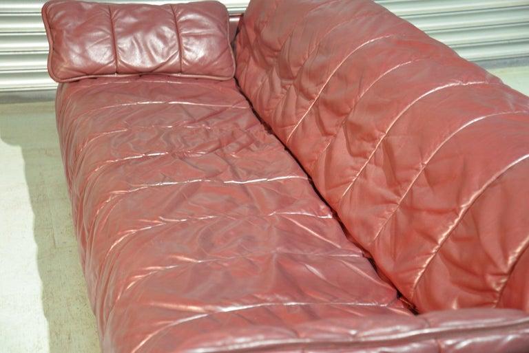 Vintage De Sede Patchwork Leather Sofa / Daybed, Switzerland, 1970s For Sale 7
