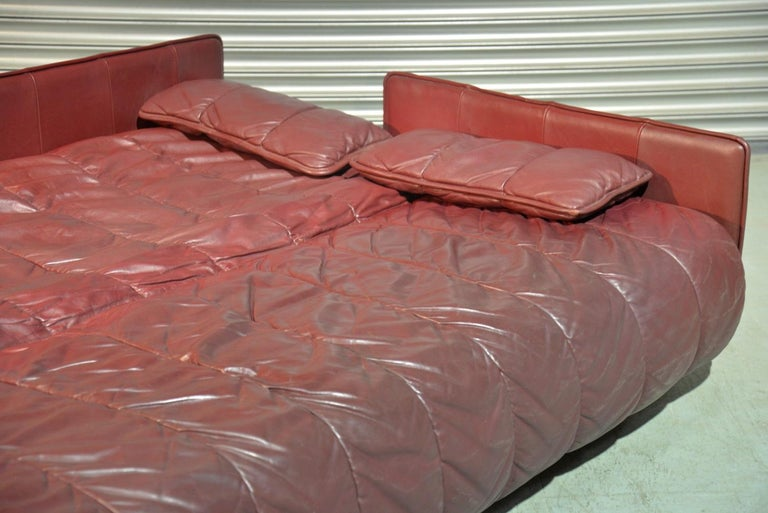 Vintage De Sede Patchwork Leather Sofa / Daybed, Switzerland, 1970s For Sale 9