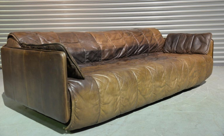 Mid-Century Modern Vintage De Sede Patchwork Leather Sofa / Daybed, Switzerland, 1970s For Sale