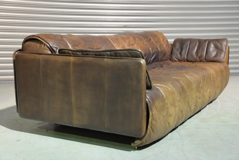 Swiss Vintage De Sede Patchwork Leather Sofa / Daybed, Switzerland, 1970s For Sale