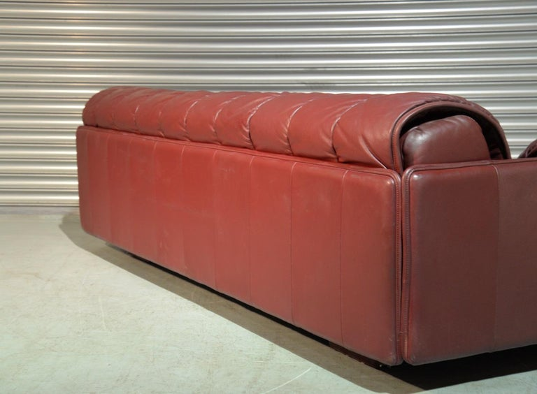 Late 20th Century Vintage De Sede Patchwork Leather Sofa / Daybed, Switzerland, 1970s For Sale