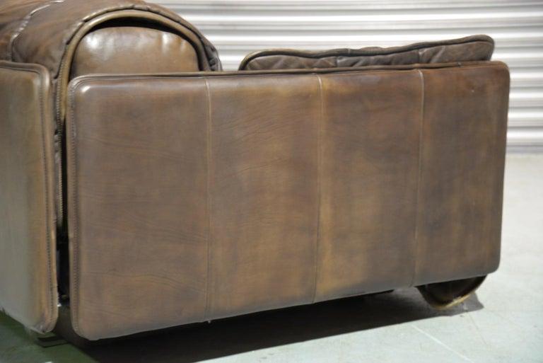 Vintage De Sede Patchwork Leather Sofa / Daybed, Switzerland, 1970s For Sale 1