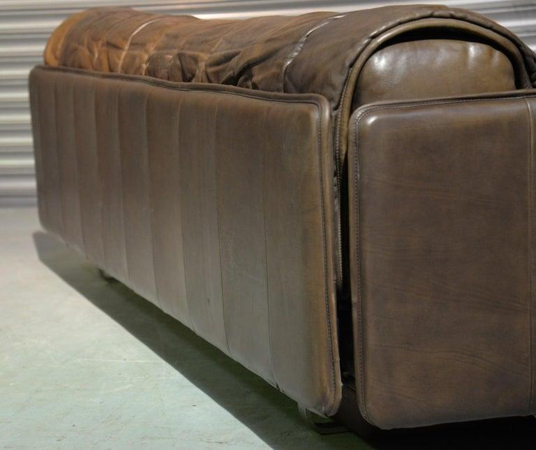 Vintage De Sede Patchwork Leather Sofa / Daybed, Switzerland, 1970s For Sale 2