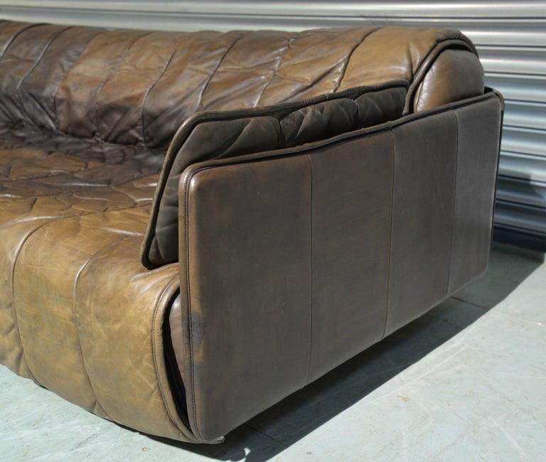 Vintage De Sede Patchwork Leather Sofa / Daybed, Switzerland, 1970s For Sale 3