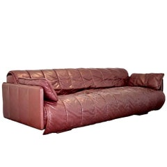 Vintage De Sede Patchwork Leather Sofa / Daybed, Switzerland, 1970s