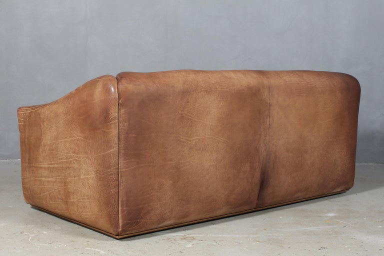 Vintage De Sede Three-Seat Sofa, DS47, Patinated Leather For Sale 1