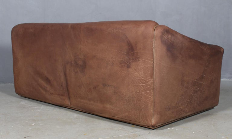 Vintage De Sede Three-Seat Sofa, DS47, Patinated Leather 1